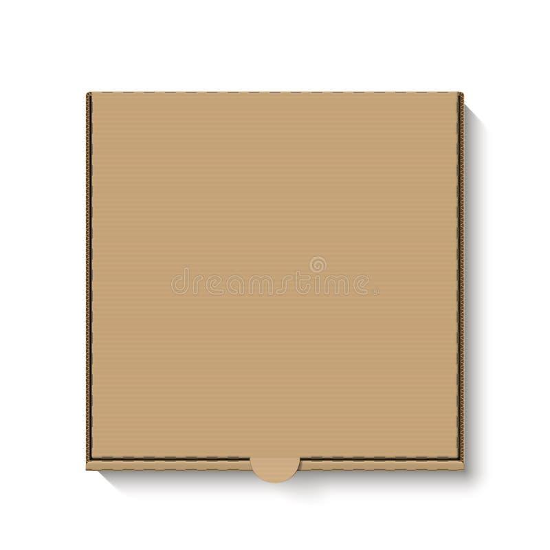 Brown pizzy kartonowy pudełko royalty ilustracja