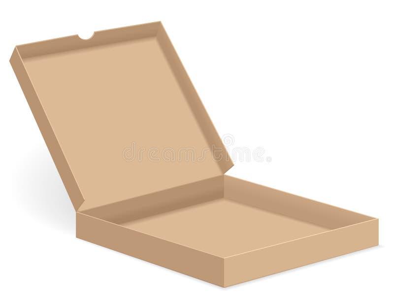 Brown pizzy pudełko otwarty ilustracja wektor