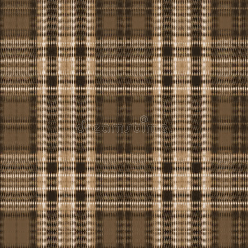Brown Plaid Background. Plaid background design in brown and beige tones stock illustration
