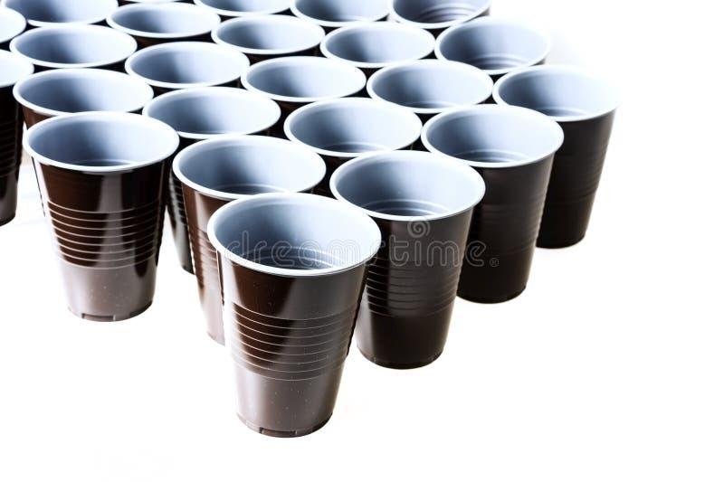 Brown-Plastikcup stockfoto