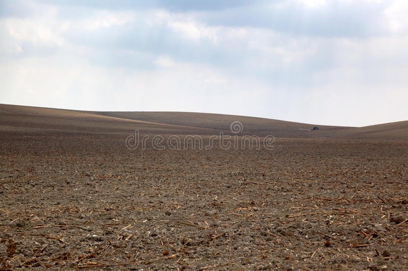 Brown Plowed Field Royalty Free Stock Images