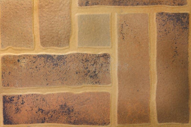 Brown podłogowych płytek tekstury tło obrazy stock