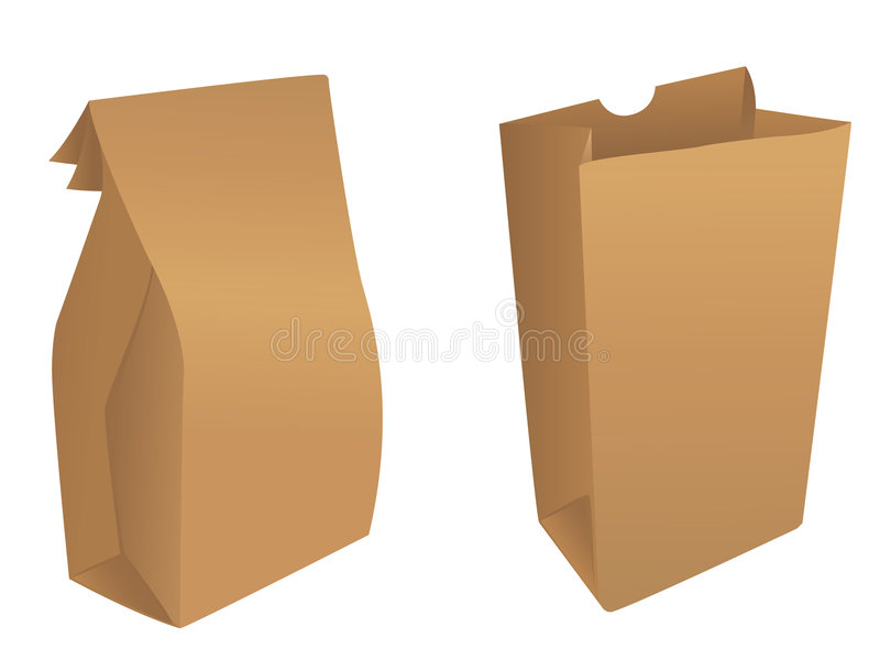 Brown Product / Paper Bags Royalty Free Stock Photo