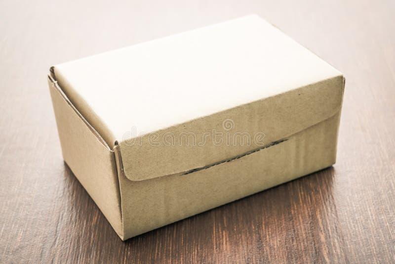 Brown pudełka egzamin próbny up zdjęcia stock