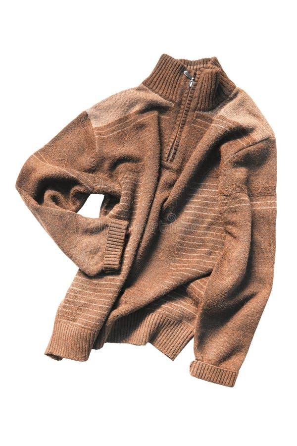 Brown-Pullover lokalisiert stockfotos