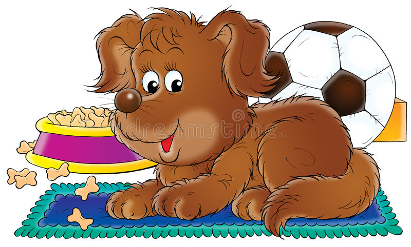 Brown puppy stock illustration