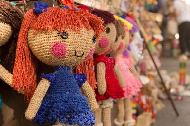 Brown Purple Red Knitted Doll Free Public Domain Cc0 Image