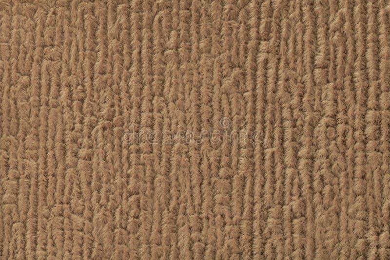 Brown puszysty tło miękka część, wełnisty płótno Tekstura tekstylny zbliżenie zdjęcia stock