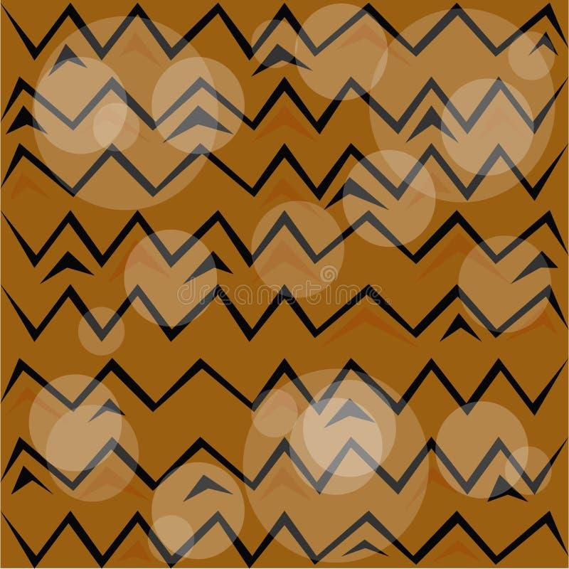 Brown puttern stock de ilustración