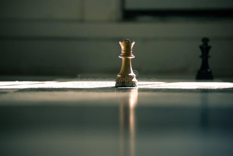Brown Queen Chess Piece stock photos