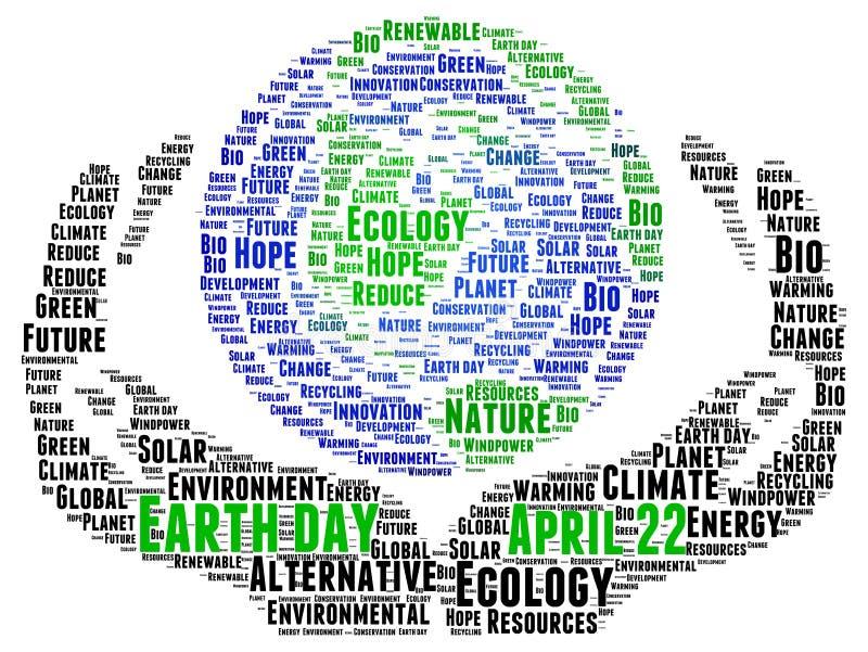 brown räknad dagjord som miljölövverk går den gående gröna treen för text för slogan för ordstäv för kramnaturuttryck stock illustrationer