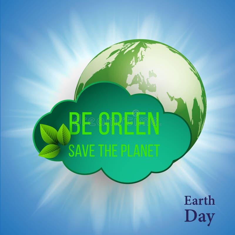 brown räknad dagjord som miljölövverk går den gående gröna treen för text för slogan för ordstäv för kramnaturuttryck Vektorillus stock illustrationer
