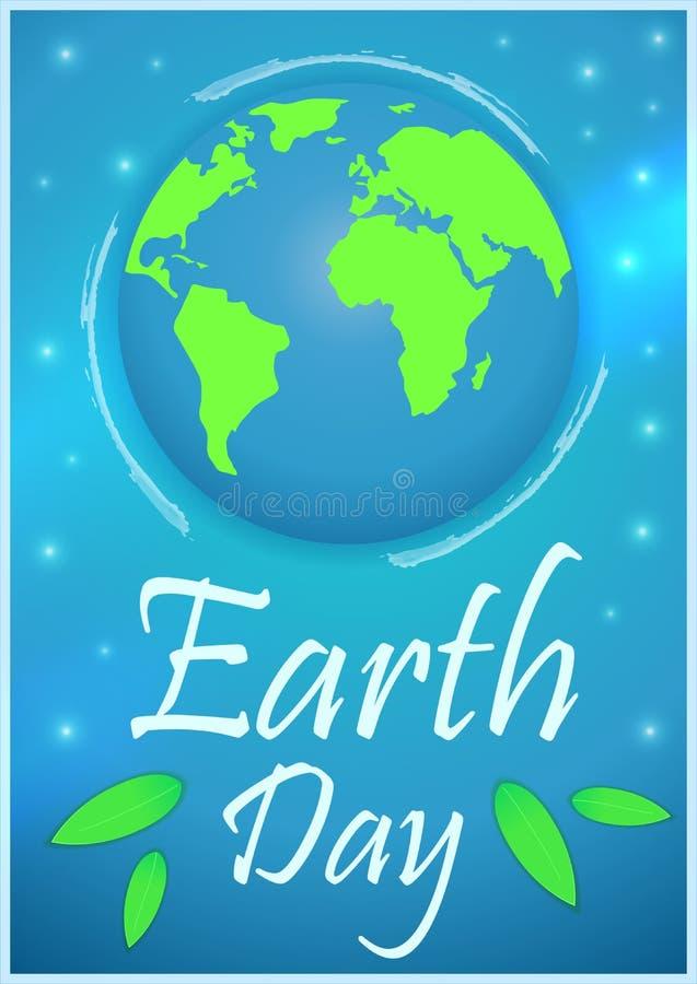 brown räknad dagjord som miljölövverk går den gående gröna treen för text för slogan för ordstäv för kramnaturuttryck Vektorillus vektor illustrationer