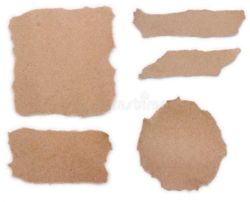 Brown réutilisent le papier de note image libre de droits