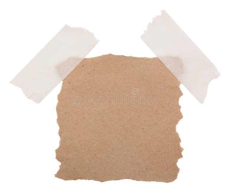 Brown réutilisent le papier de note photo stock