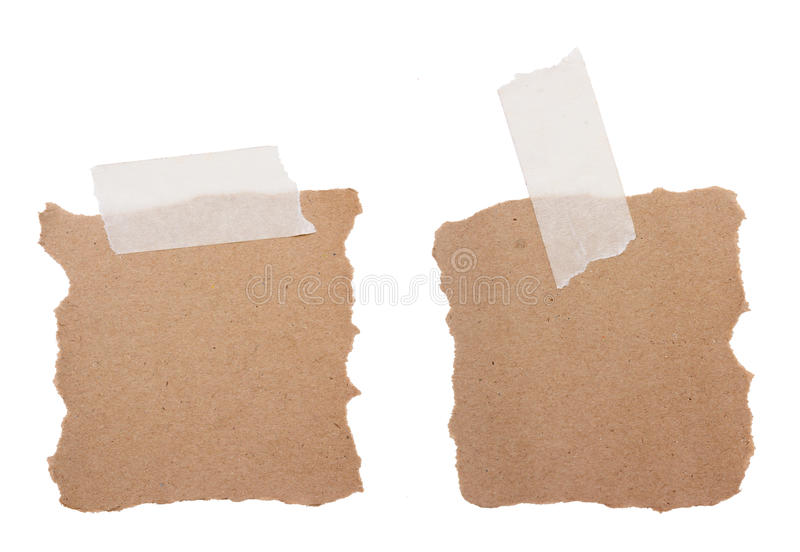 Brown réutilisent le papier de note photographie stock