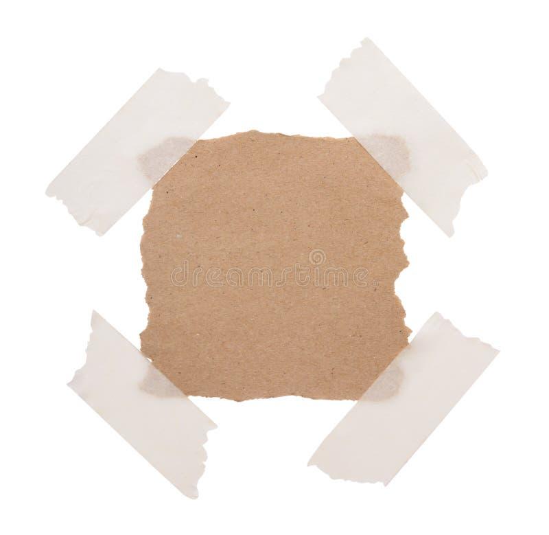 Brown réutilisent le papier de note image stock