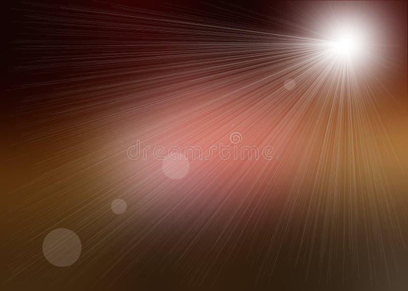 brown - różowe promienie światła royalty ilustracja