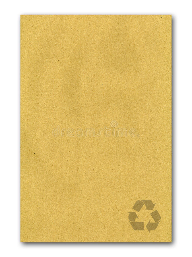 Brown recicl o fundo de papel fotografia de stock royalty free
