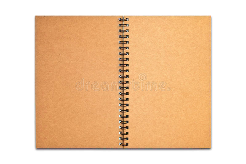 Download Brown Recycle Paper Blank Notebook Open Isolated Stock Image - Image of background, page: 16714697