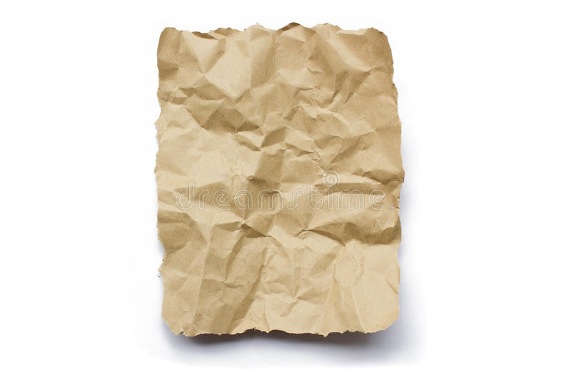 Brown recycle wrinkle paper stock photos