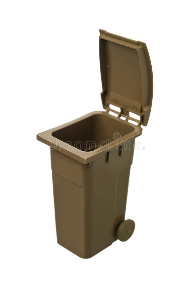 Brown Recycling Bin stock images