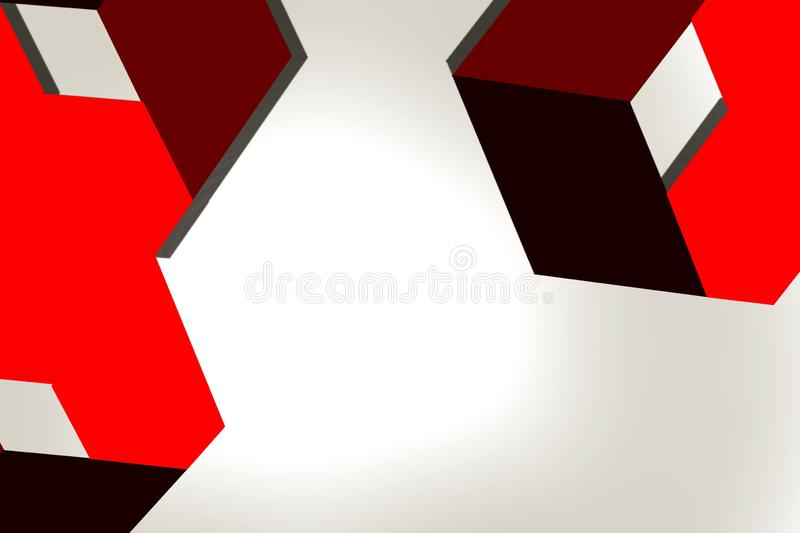 Brown and red arrow on corners abstract background stock illustration