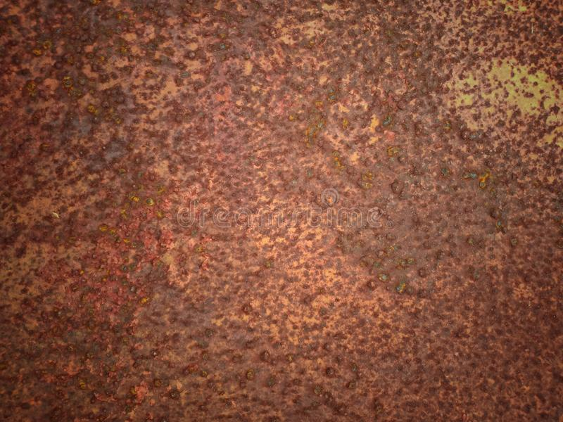 Brown and red rusty metal. Steel, background, abstract, vintage-style, texture, pattern, brown-background, door, old-door, close-up, tools stock photo