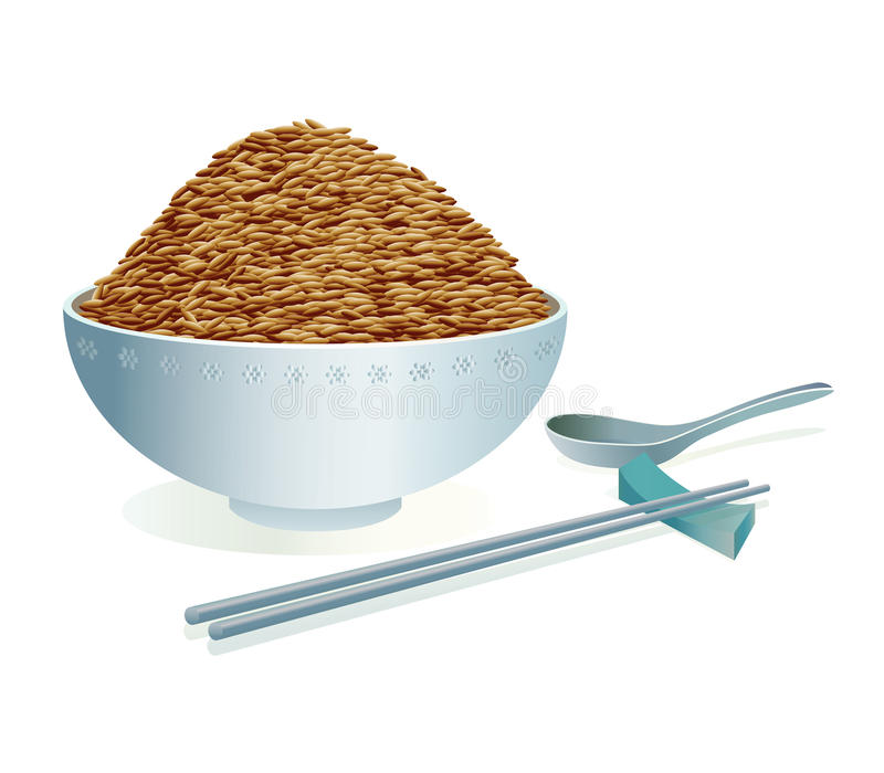 Brown-Reis lizenzfreie abbildung