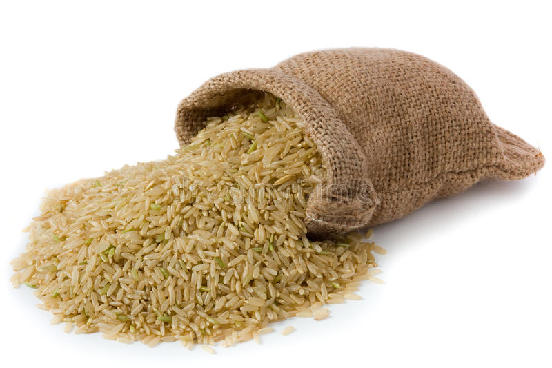 Brown-Reis stockfotografie