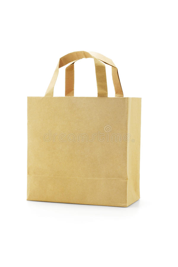 Download Brown reusable paper bag stock photo. Image of disposable - 15069682