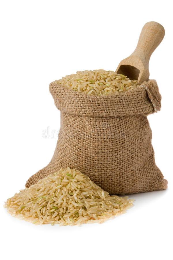 Brown rice royalty free stock images