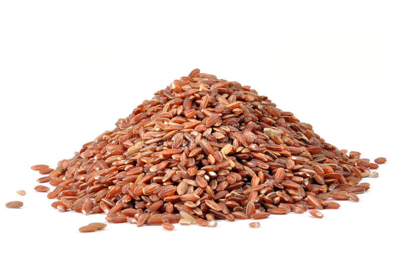 Brown Rice Grains Stock Photos