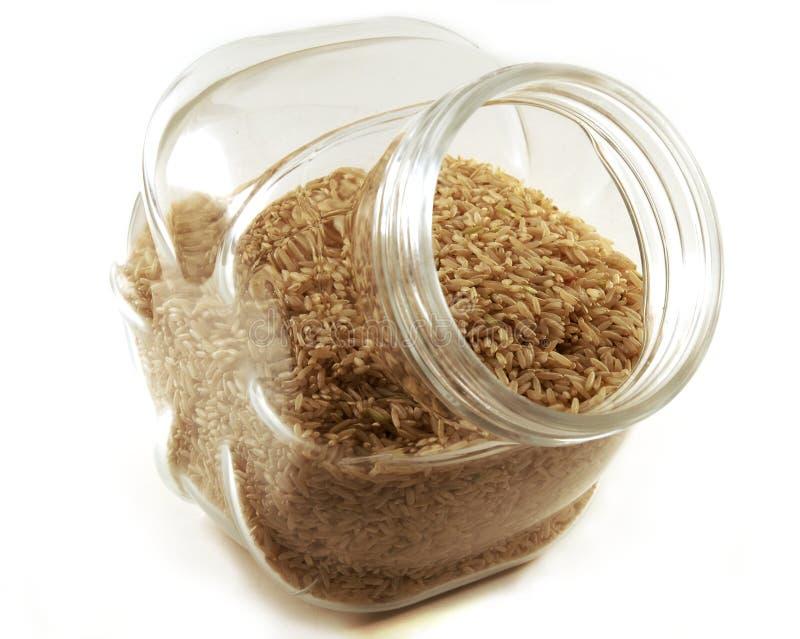 Brown Rice Jar royalty free stock photography