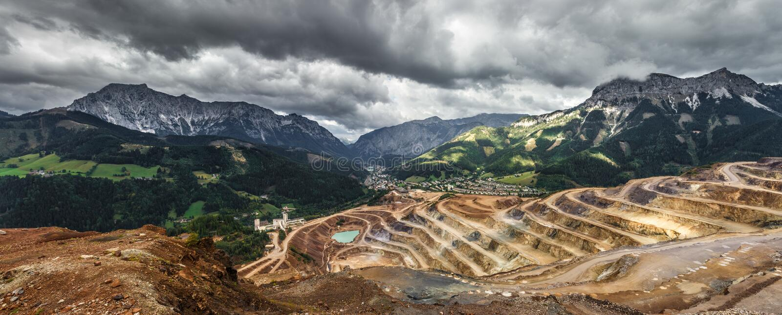 Brown Rice Terraces Under Gray White Sky during Daytime royalty free stock images
