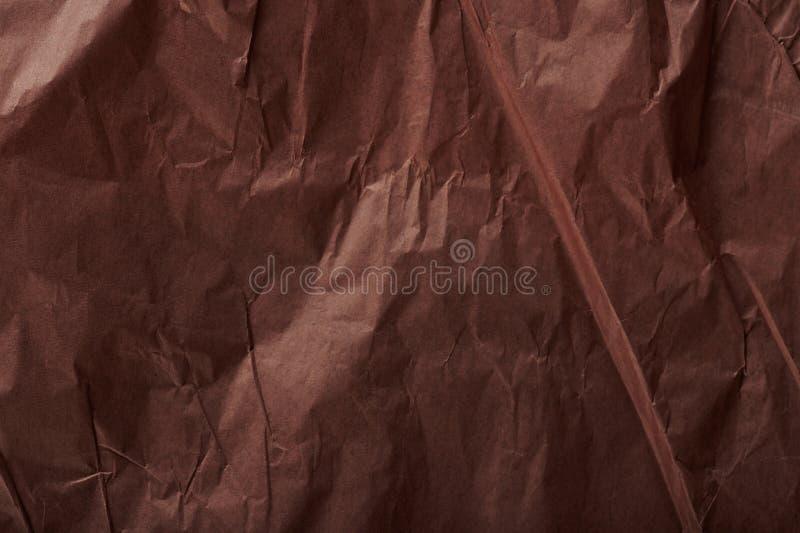 Brown a ridé le papier d'emballage photos stock
