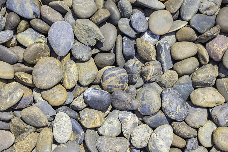 The Brown rocks on the ground Used as a background royalty free stock images