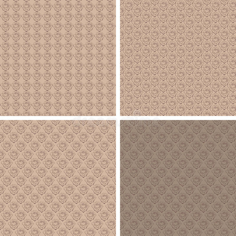 Brown rose pattern royalty free stock images