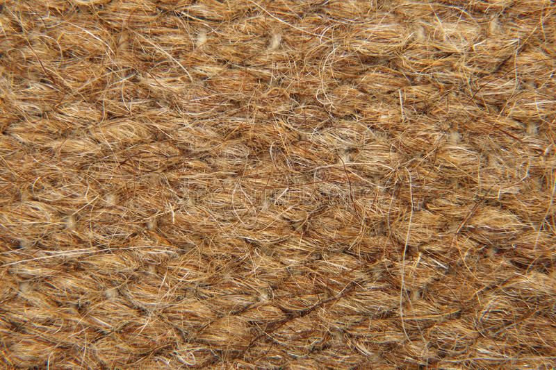 Brown Rough Camel Wool Fabric Texture Background Stock