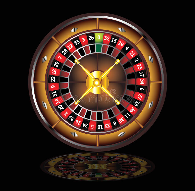 Brown roulette wheel royalty free illustration