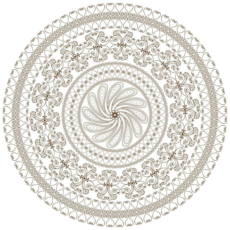 Download Brown rund ram vektor illustrationer. Illustration av utsmyckat - 27279866