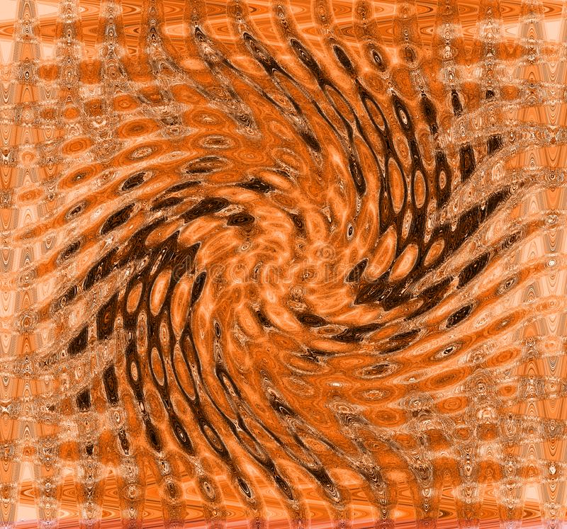 BROWN AND RUST SPIRAL PATTERN stock images