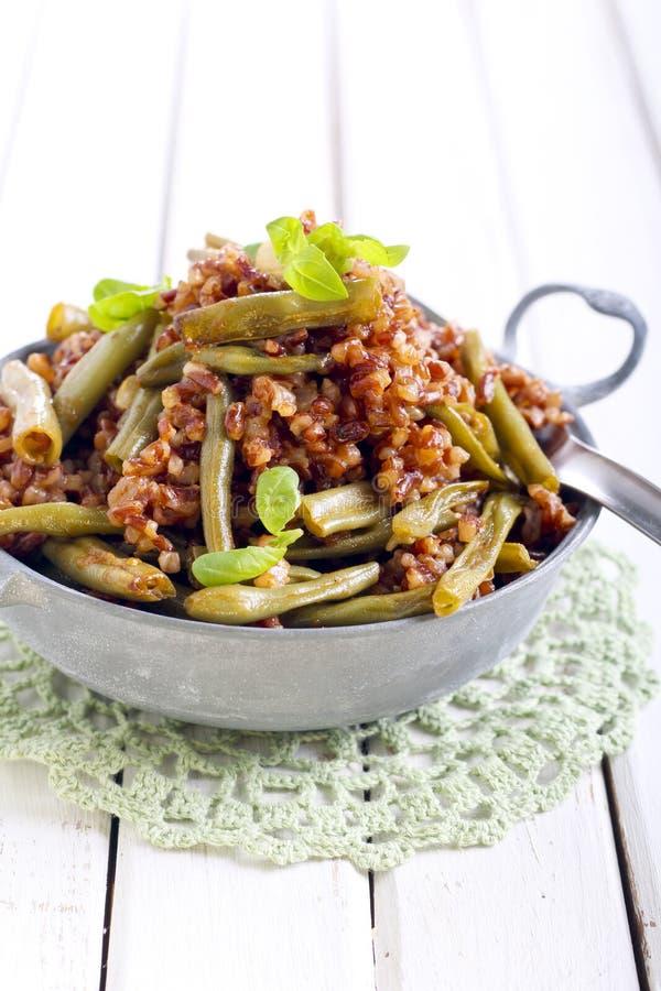 Brown ryż zdjęcia stock