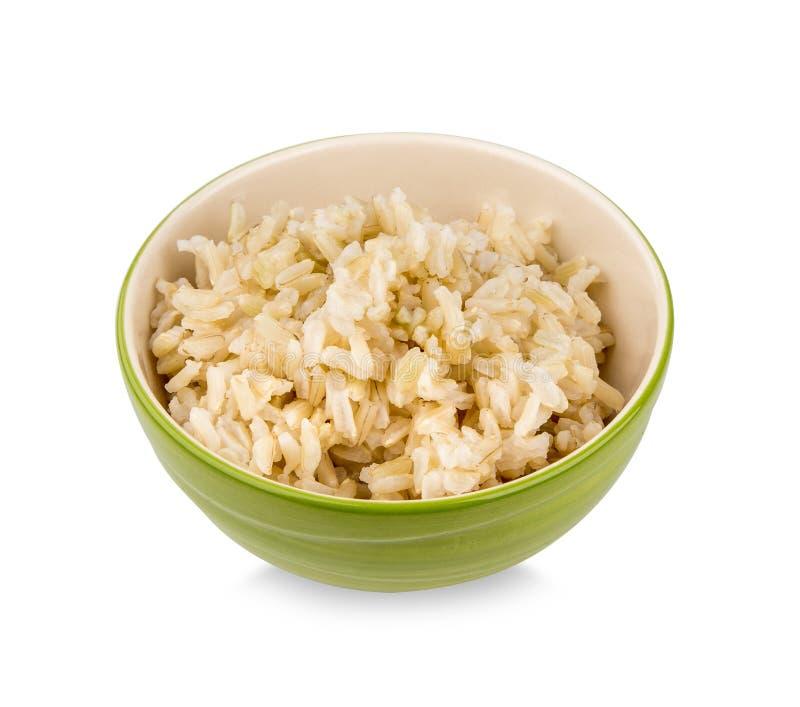 Brown ryż w filiżance obrazy stock