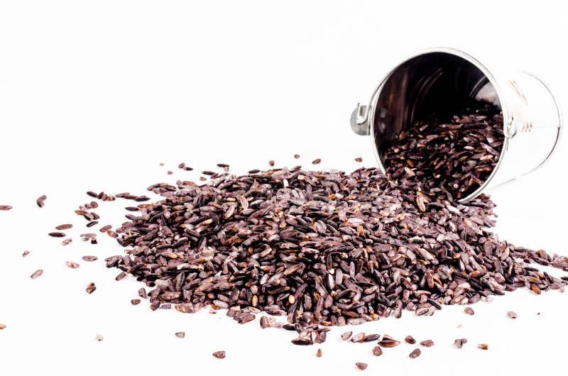 Download Brown Ryż Z Cynkowym Wiadrem Na Białym Tle Obraz Stock - Obraz złożonej z kultura, ryż: 53786713