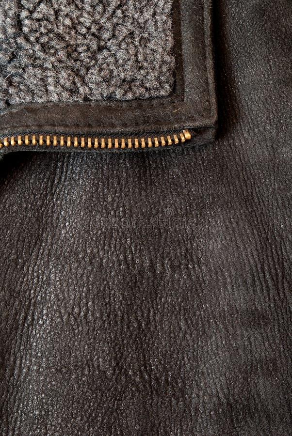 Brown rzemienna tekstura może używa jako tło zdjęcie royalty free