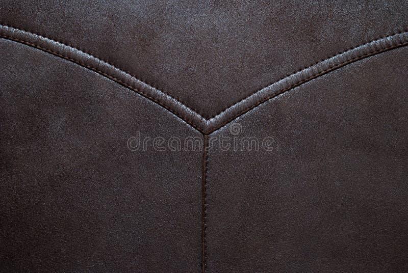 Brown rzemienna tekstura może używa jako tło fotografia stock