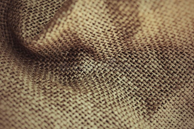 Brown sackcloth background. Brown sackcloth texture or background royalty free stock images