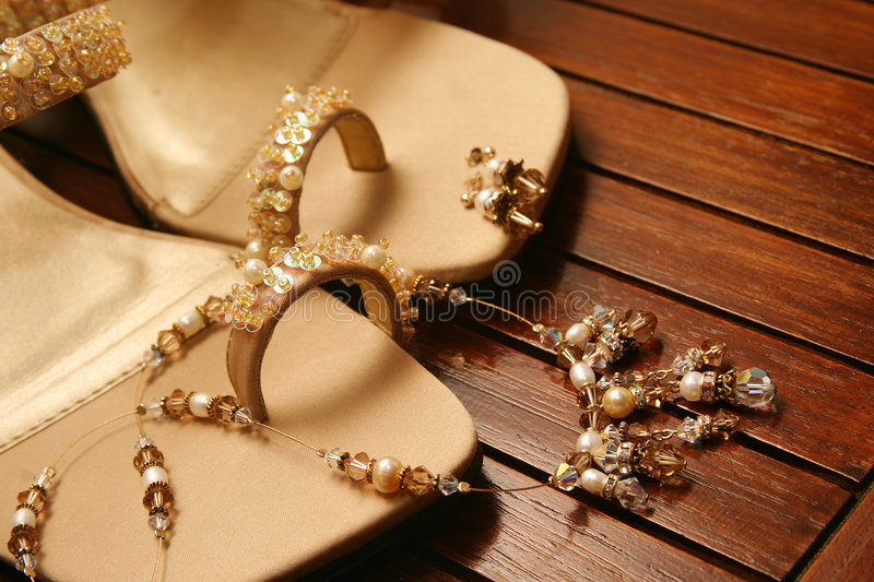 Download Brown sandals stock image. Image of beading, brown, fashion - 110089