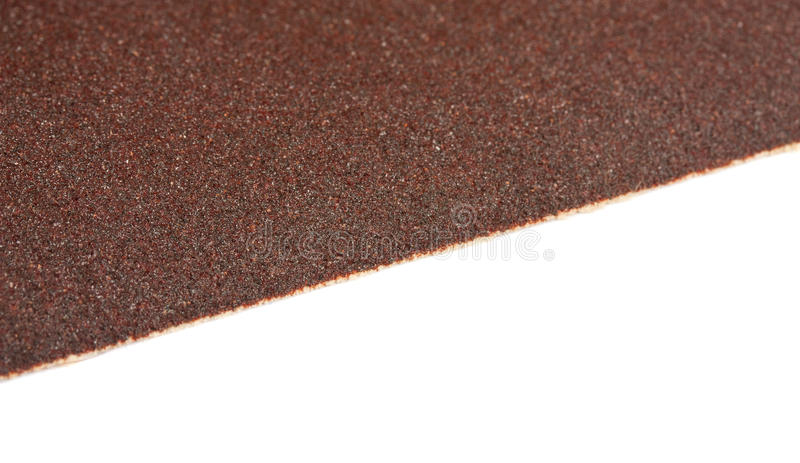 Brown sandpaper texture, closeup shot royalty free stock photo